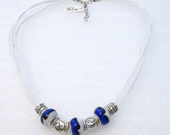 874 - NEW White Beaded Necklace