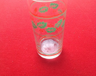 Holly berry christmas tumblers drinking glasses x 5