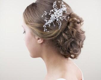 Bridal comb, Wedding Accessories, Cleo Bridal Headpiece, Wedding headpiece, Pearl and crystal Headpiece, Bridal Hair Jewelry