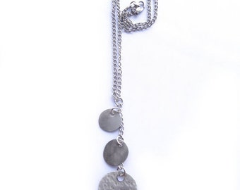 Silver Multi Disk Necklace (N19)