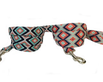 Southwest Inspired- Colorful Modern Geometric Dog Leash - Choose from 2 patterns!