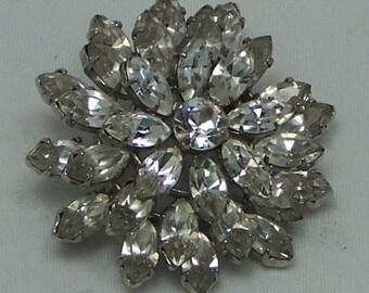 1940's - 1950's Austrian Crystal/Rhinestone Brooch