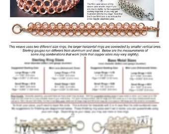 Chainmaille Tutorial - Japanese Lace 12-in-2 (Easy Intermediate)