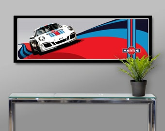 Martini Racing Tribute Poster - Print 347 - 12 X 36 Inches -  Home Decor