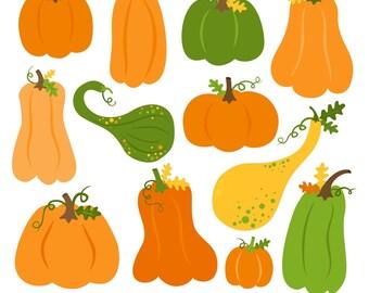 AUTUMN SALE! Pumpkin Clipart, Digital Pumpkin, Autumn Clipart, Fall Clipart, Printable, Commercial Use