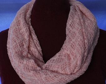 Infinity Scarf, Light Pink Gauze Knit