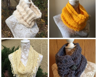 Cowls, Vol. 1 eBook - 4 unique loom knit patterns