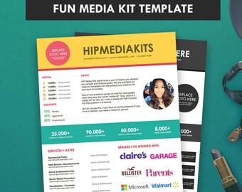 Media Kit + Ad Rate Sheet FUN -  Press Kit -  Pitch Kit - Blog Sponsorship (1 Page)