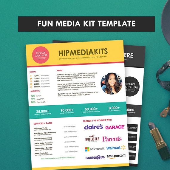 press packet template - media kit ad rate sheet fun press kit pitch kit blog