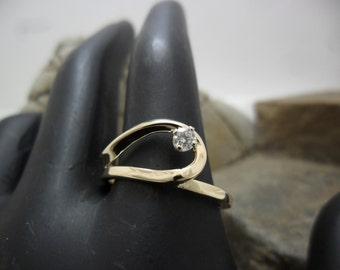 14K yellow gold with diamond ring