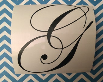 Monogram, iPhone Decal, Laptop Decal, Vinyl Lettering, Vine Monogram