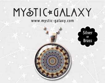 Mandala Necklace, Mandala Pendant, Boho Necklace, Hippie Jewelry, Yoga Necklace, Mandala #011