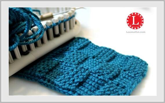 Loom Knitting Questions : Loom knit stitch pattern the garter checks