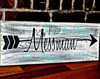 Family Last Name Signs,  Personalized Wood Sign,  Established Sign,