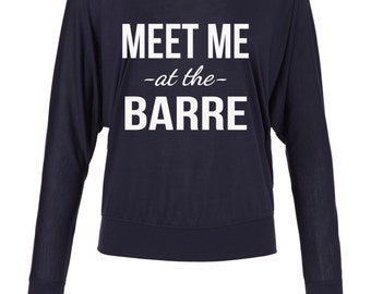 Meet Me At The Barre Off The Shoulder Top, Pure Barre, Barre Shirt, Barre Top