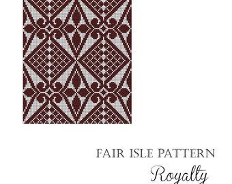 "Fair Isle chart pattern ""Royalty"""