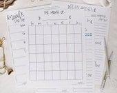 INSTANT DOWNLOAD \\ joyful planning sheets - BUNDLE pack, Printable, Plan Ahead