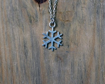 Silver Snowflake Necklace-Sterling Snowflake-Snow Jewelry-Winter Necklace-Snowflake Pendant-Winter Pendant-Valentines Day Gift