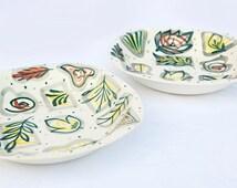 2 Midwinter Stylecraft bowls - Primavera design by Jessie Tate