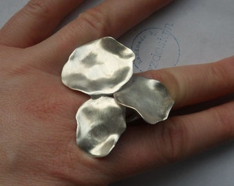 Silver ring, 925 Silver, flower ring, statement ring, floral silver ring
