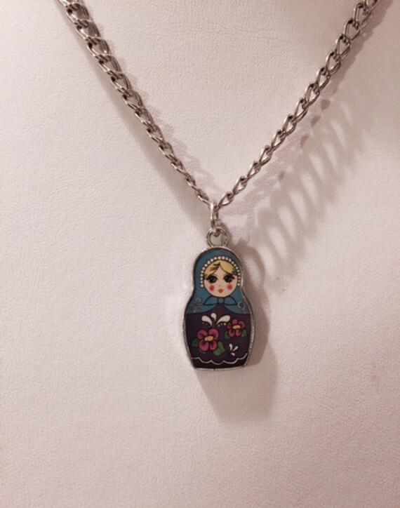 Russian Nesting Doll Necklace Matryoshka by MaidenLongIsland