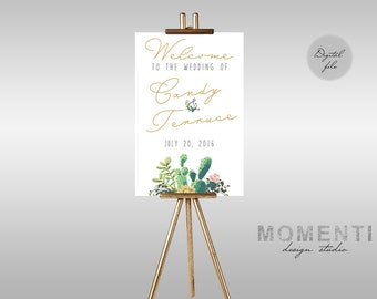Printable Wedding Welcome sign, Succulent welcome sign printable, Reception sign printable, Desert welcome sign, The Lane collection