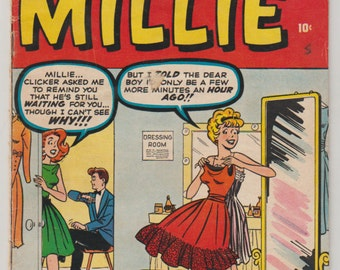 Life with Millie, Vol 1, 8, Silver Age Romance Comic Book. VG (4.0). December 1960. Atlas Comics (Marvel Comics)