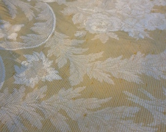 """Gold Waverly Fabric """"Chatillan"""" Rayon Acetate Blend Upholstery Fabric - BY THE YARD"""