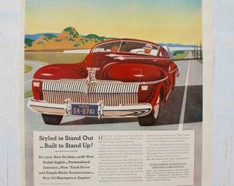 1930s - Desoto Car Advertisement  - Vintage Car Automobile - Antique Advertisement - Old Magazine Ad - Advertisement Print - WWII Era