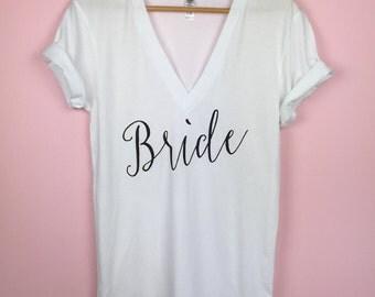 Bride Shirt. Bride Tshirt. Bride Gift. Bridal White Shirt. Bride To Be Shirt. Bridal Shirt. Wedding Day Shirt. Bridal Shower Gift. Bride Tee