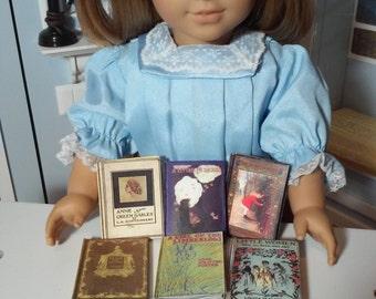 "Printable Children's Classics Book Set School Supplies 18"" American Girl Doll Accessories Mini Books"