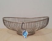Leonard SilverPlate Wire Basket, Fruit Basket, Bread Basket, silver basket, oblong bowl, vintage dish