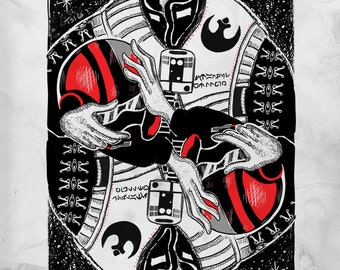 Poe Dameron Playing Card (Print)
