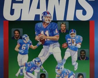 1987 New York Giants Super Bowl Champions - Original Vintage Poster