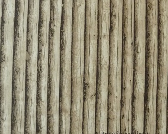 Landscape Fabric, Moda 15636 13 Modascapes Log Cabin Taupe, Logs Fabric, Tree Trunk Fabric, Landscape Quilt Fabric, Cotton