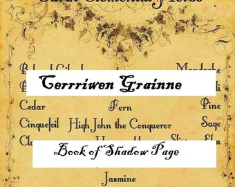 Book of Shadows, PDF, Digital Download, Scrapebook Page, Ritual Herbs, Grimoire, Witches Supply, Witchcraft, Wicca, Wiccan, Pagan, Spells