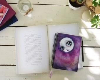 "Notebook A5 ""La soledad de la luna"" 15 x 21 cm // 5 x 8"""