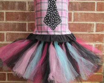 Boutique custom handmade pageant girls Monster High Draculaura tutu, corset costume, Draculaura costume, Draculara skirt, draculara tutu