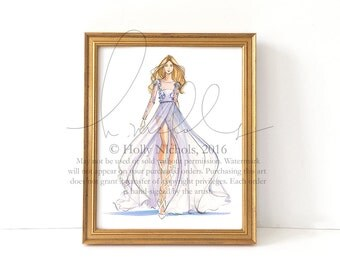 Serenity (Couture Fashion Illustration Print)