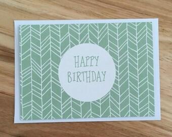 Aztec Green Birthday Card