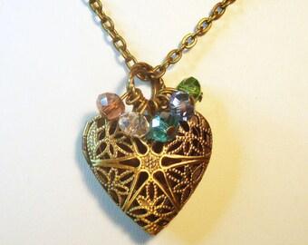 Essential Oil Diffuser - Bronze Heart Design