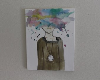 Tumblr Inspired Watercolor Painting