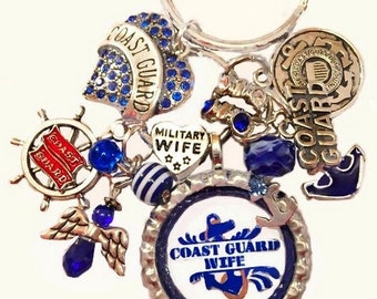 Coast Guard Wife Handmade KeyChain/PurseCharm