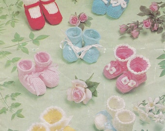 Baby Shower Gifts Baby Girl Clothes My First Christmas Knitting Pattern PDF Pattern Soft Crib Shoes Booties Pattern Baby Knit Pattern