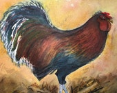 Country Rooster Watercolo...