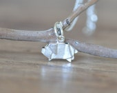 Sterling Silver Origami Pig Necklace, Gold Pig Necklace, Silver Pig Necklace, Origami Animal Jewelry, Origami Jewelry, Jamberjewels
