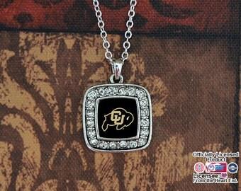 Colorado Buffaloes Square Necklace