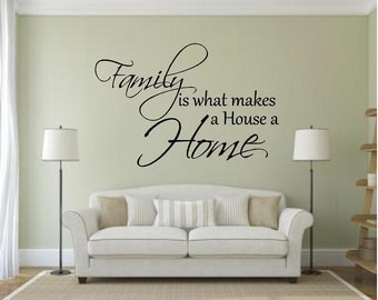 Vinyl Family is What Makes a House A Home Wall Decal