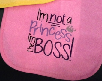 Not the Princess Baby/Toddler Bib