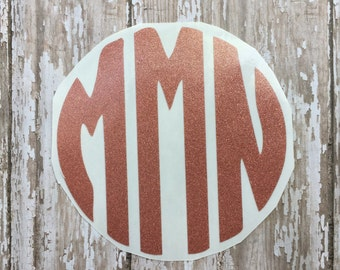 Small Monogram Decals/Charger Decal/Monogram Decal/IPhone Decal/Gun Decal/Monogram Sticker/Gun Monogram/Charger Monogram/Key Fob Decal